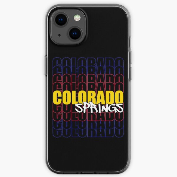 Colorado Springs State Flag Typography iPhone Soft Case