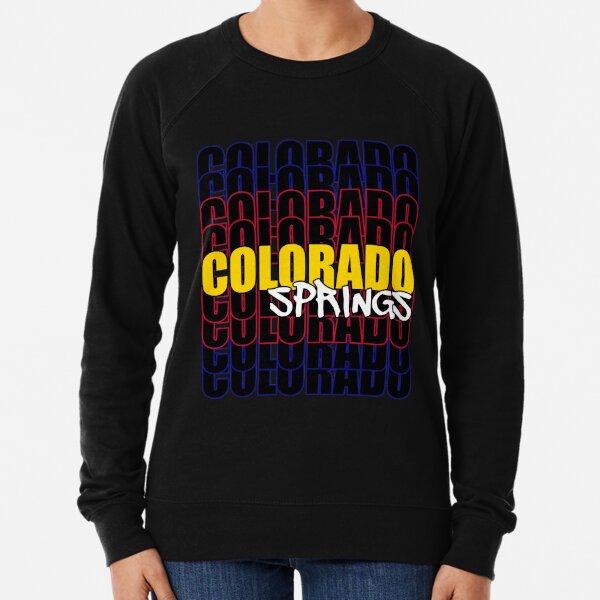 Colorado Springs State Flag Typography Lightweight Sweatshirt