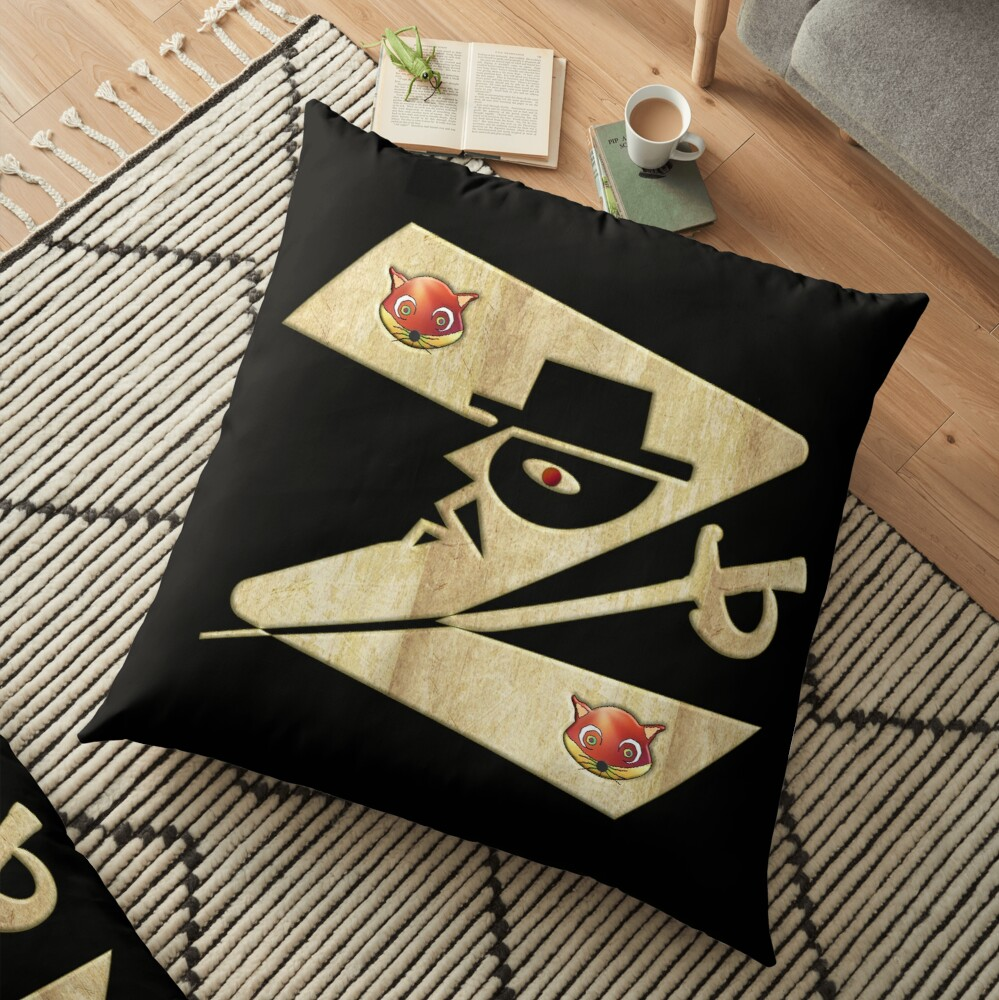 In the name of Zorro - Zorro is cheeky like a fox - Z like Zorro with his famous sword2! Floor Pillow
