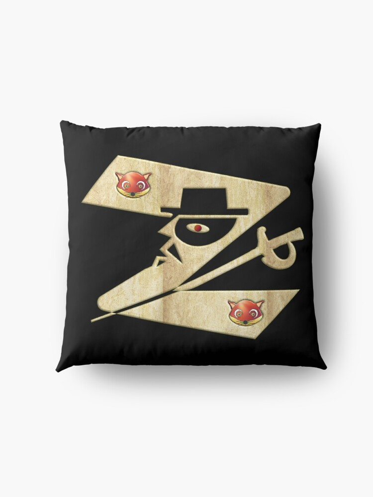 Alternate view of  In the name of Zorro - Zorro is cheeky like a fox - Z like Zorro with his famous sword2! Floor Pillow