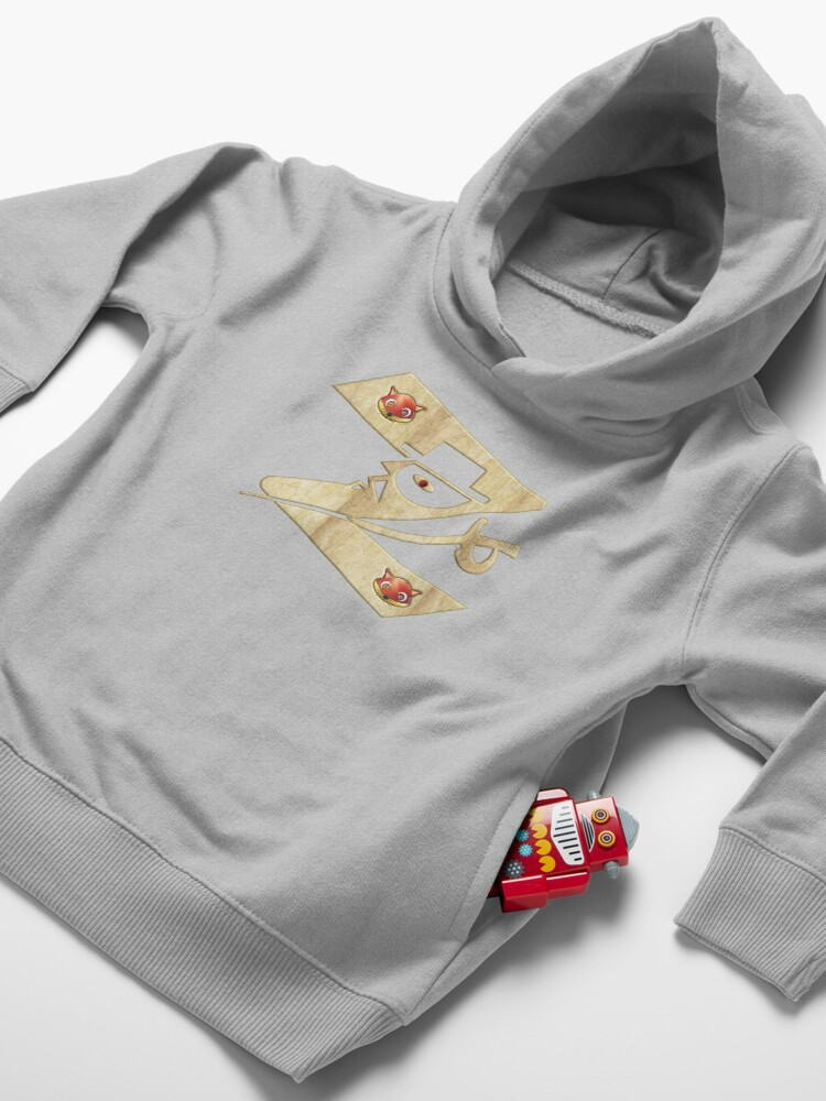 Alternate view of  In the name of Zorro - Zorro is cheeky like a fox - Z like Zorro with his famous sword2! Toddler Pullover Hoodie