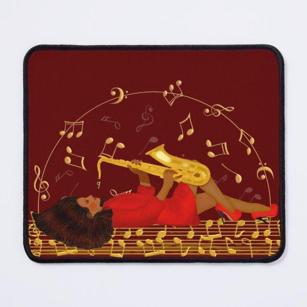 La niña y el saxofón 2 Alfombrilla de ratón