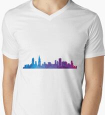 Chicago skyline  Men's V-Neck T-Shirt