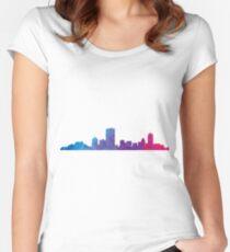 Boston skyline  Women's Fitted Scoop T-Shirt