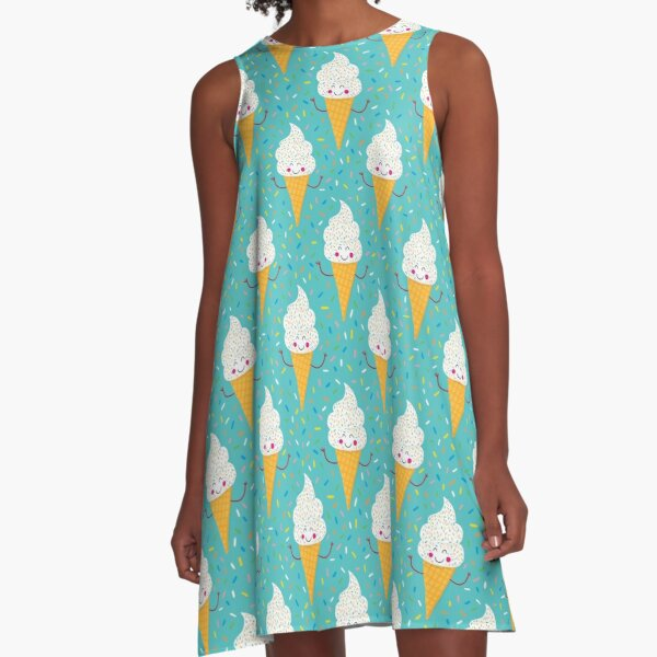 Ice Cream Party A-Line Dress