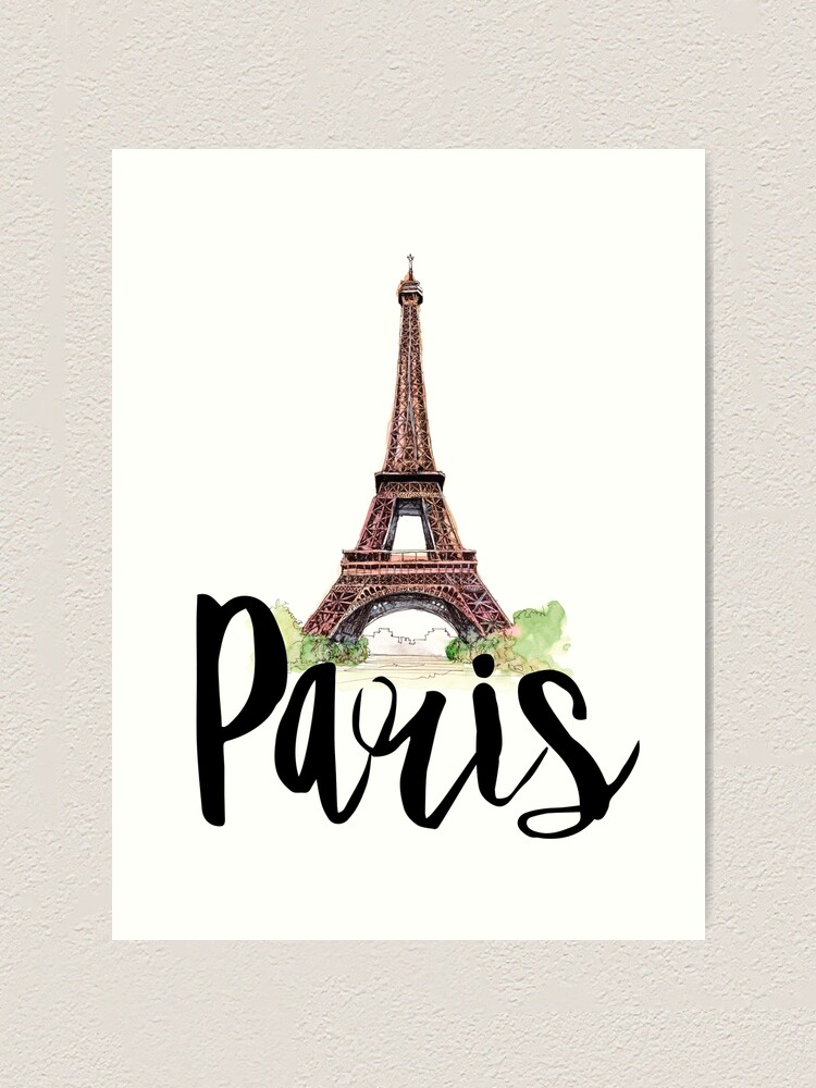 Alternate view of Paris Art Print