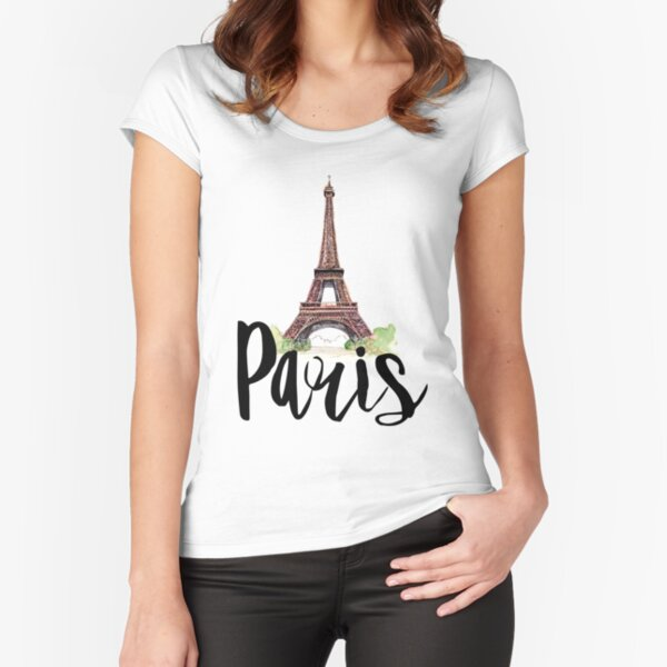 Paris Fitted Scoop T-Shirt