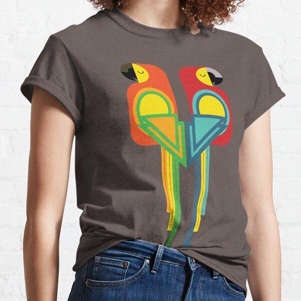 Macaw bird geometrical pattern Classic T-Shirt