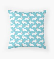 Bunnies with Glasses Throw Pillow