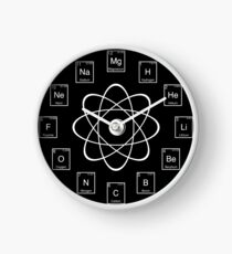 Chemistry clocks redbubble periodic table elements clock urtaz Images