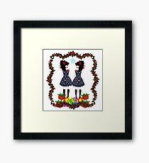 Lolita Whovian twins do Christmas Framed Print