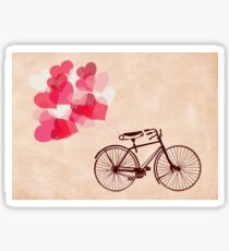 Heart-Shaped Balloons and Bicycle Sticker