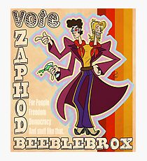 Vote Zaphod Beeblebrox Photographic Print