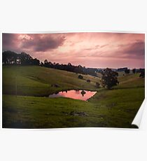 Sunsets in the water Poster