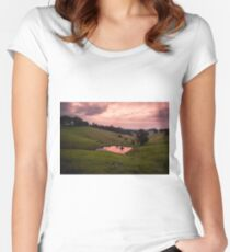 Sunsets in the water Women's Fitted Scoop T-Shirt
