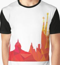 Barcelona skyline  Graphic T-Shirt