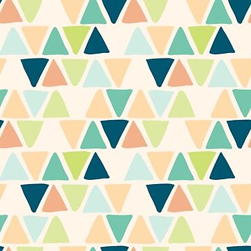 Multicolor Triangle Geometric Pattern by gwendegroff