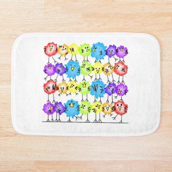 Rainbow Birds Bath Mat