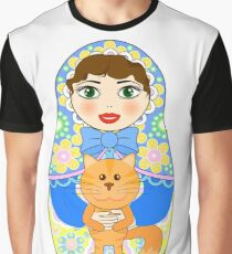 Russian doll matryoshka. Russian souvenir, tradition. Graphic T-Shirt