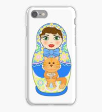 Russian doll matryoshka. Russian souvenir, tradition. iPhone Case/Skin