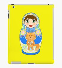Russian doll matryoshka. Russian souvenir, tradition. iPad Case/Skin