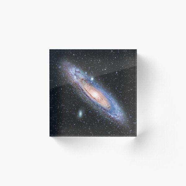 The Andromeda Galaxy Acrylic Block
