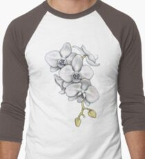 Orchid Flower Men's Baseball ¾ T-Shirt