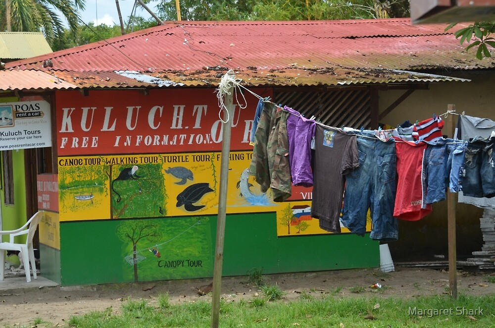Clothes line, Costa Rica by Margaret  Shark