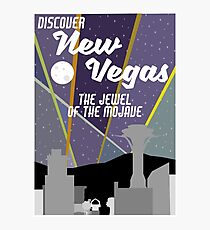 Vintage New Vegas Skyline Photographic Print