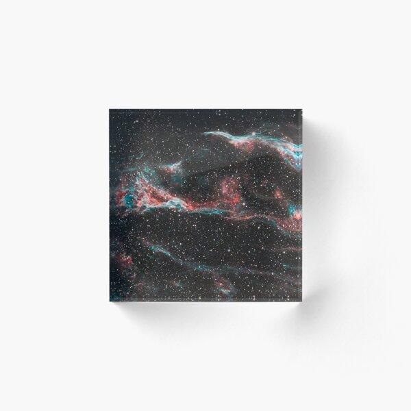 The Western Veil Nebula Acrylic Block