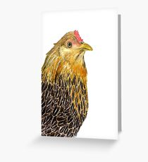 Country Chicken Greeting Card