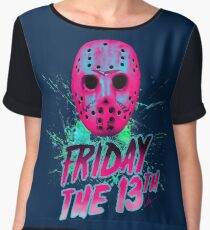 FRIDAY THE 13TH Neon V Chiffon Top