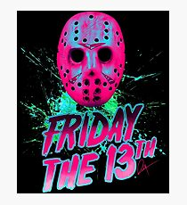 FRIDAY THE 13TH Neon V Photographic Print