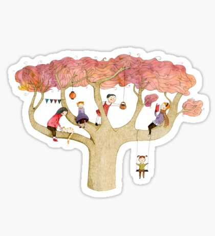Playing In The Tree Sticker