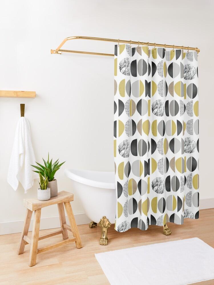 Alternate view of Mid Century Modern Shower Curtain