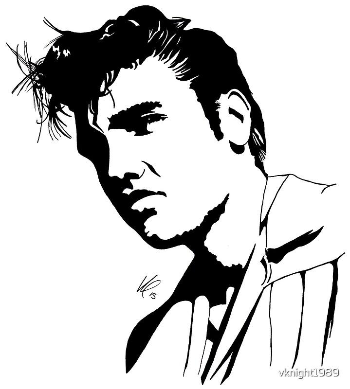 Elvis Presley silhouette by vlmcl art Redbubble