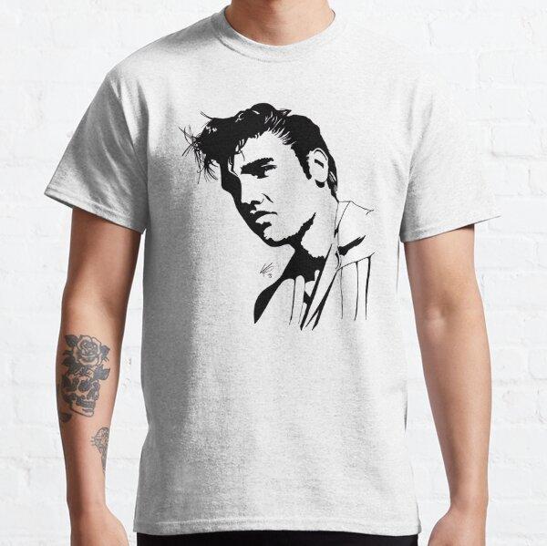 Silhouette d'Elvis Presley T-shirt classique