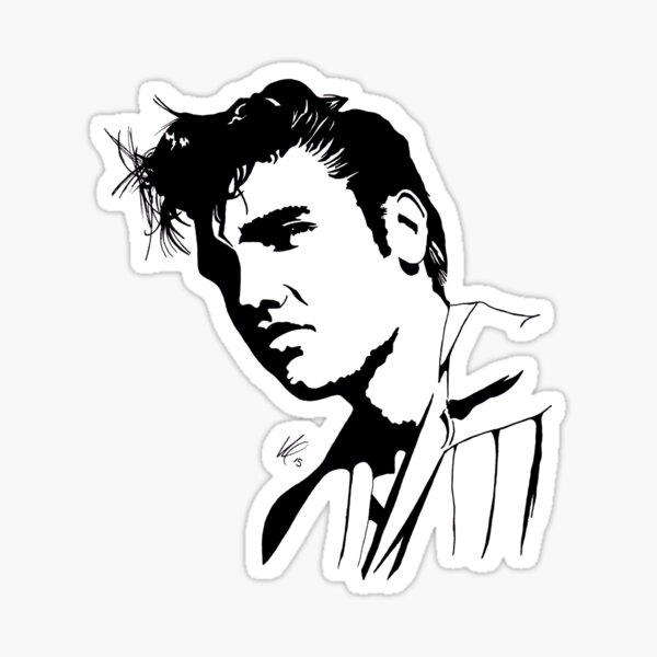 Silhouette d'Elvis Presley Sticker