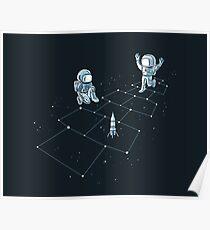 Hopscotch Astronauts Poster