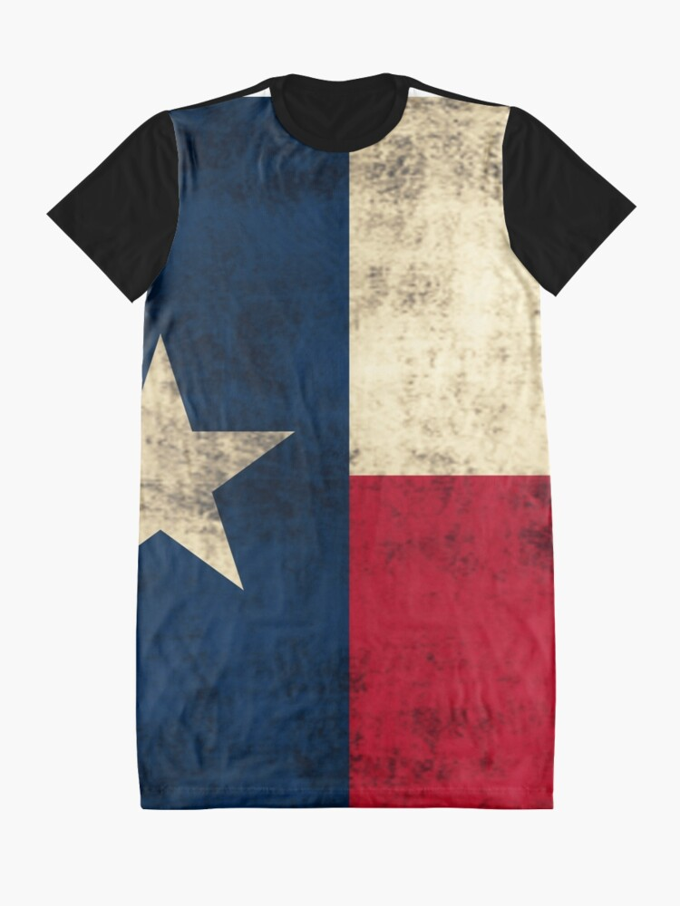 Alternate view of Vintage Grunge Flag of Texas Graphic T-Shirt Dress