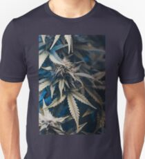 Weed indica sativa cannabis design floral hemp marijuana T-Shirt