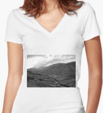 Cameron Highlands Tea Plantation II Women's Fitted V-Neck T-Shirt