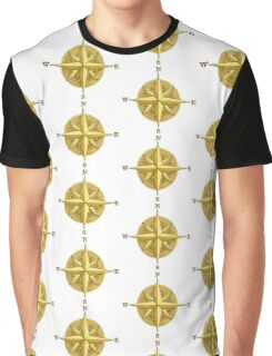 Vintage Compass Rose Graphic T-Shirt