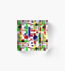 Geometric Shapes Geo Blast 1.3 by Hamlet Pericles Acrylic Block