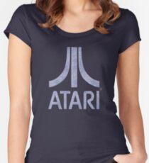 °GEEK° Atari Denim Logo Women's Fitted Scoop T-Shirt