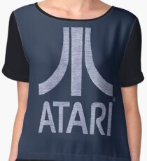°GEEK° Atari Denim Logo Women's Chiffon Top