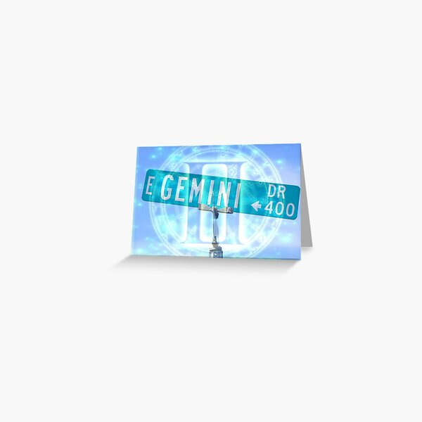 Gemini Drive Greeting Card