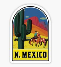 VINTAGE NEW MEXICO TRAVEL SANTA FE COWBOY SAGUARO TAOS ALBUQUERQUE Sticker
