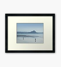 Walking from Penzance to St Michael's Mount Framed Print