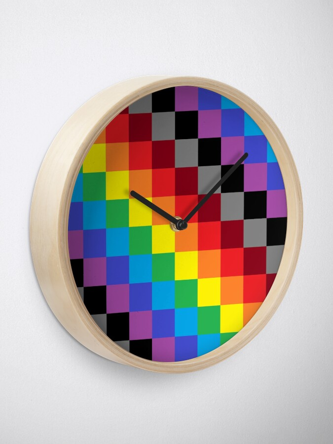 Alternate view of Colored Squares Clock
